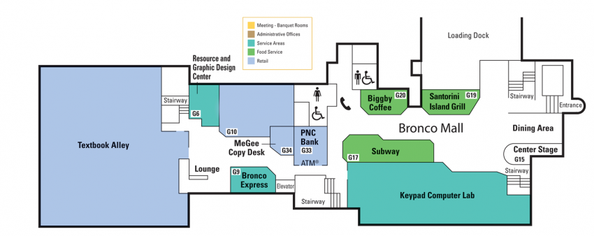 Locations And Floor Plans Bernhard Center Western