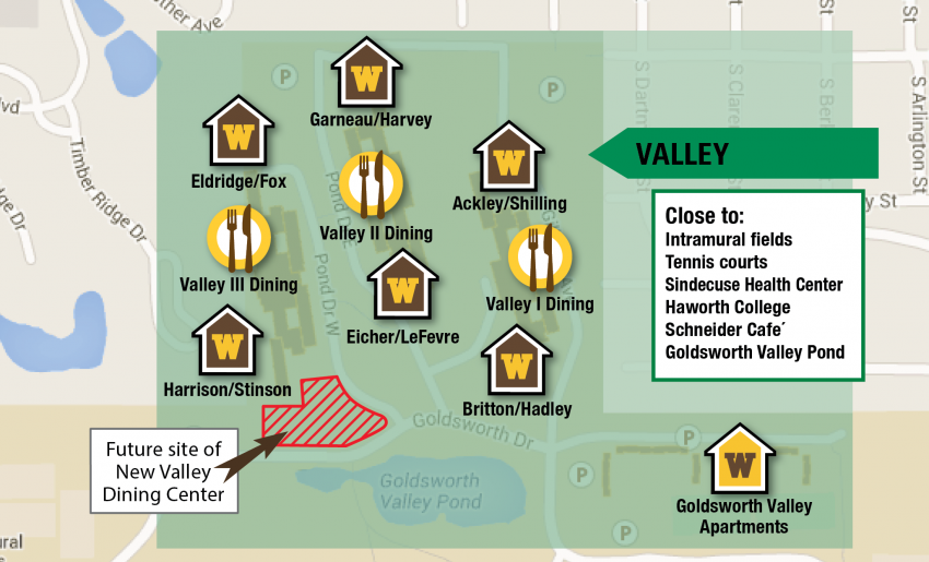 Map of Valley Neighborhood