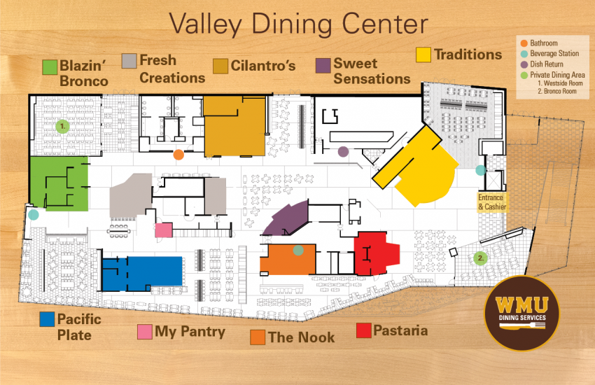 Valley Dining Center map