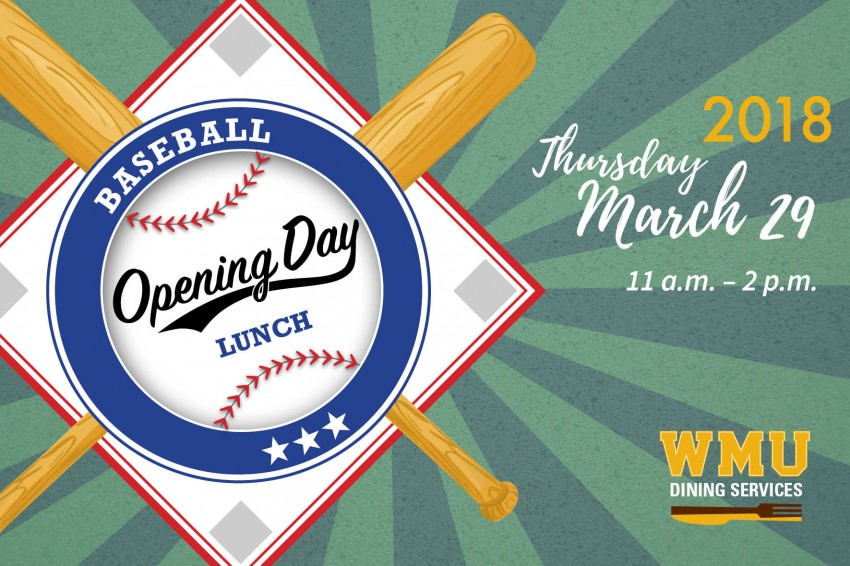 Baseball Opening Day March 29, 11 a.m. to 2 p.m.