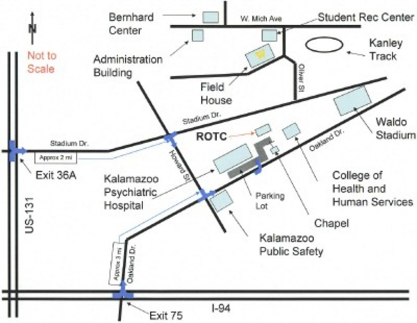 Campus map of Western Michigan University.