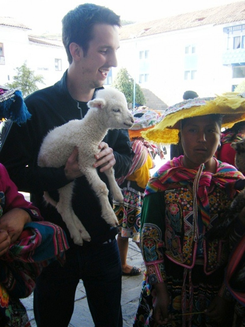 People in Cuzco, Peru.