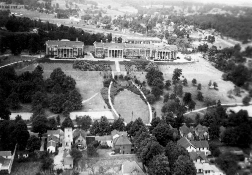Western Michigan University's East Campus in 1915