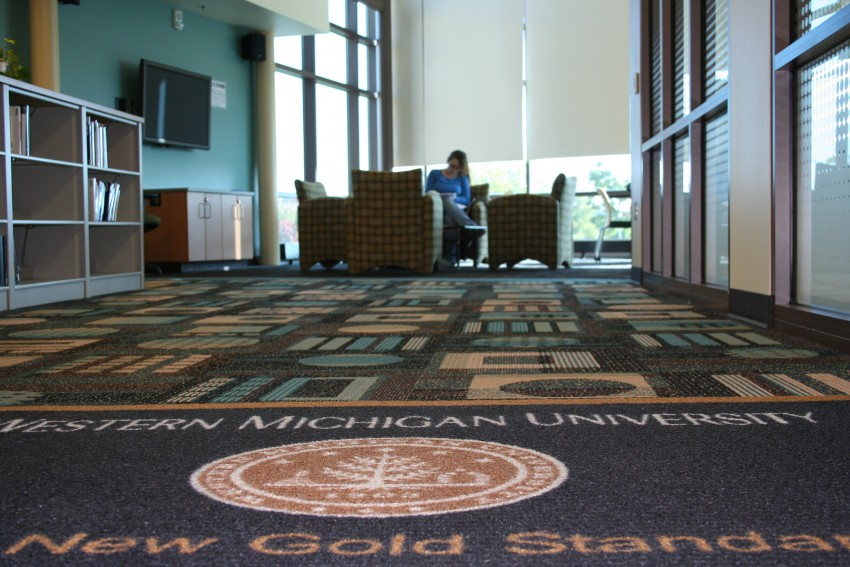 WMU student studying in the Clifford Center