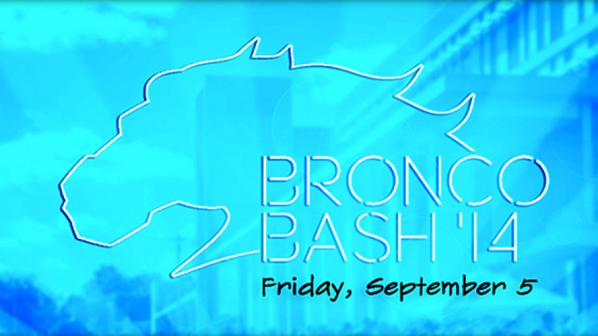 2014 Bronco Bash logo.
