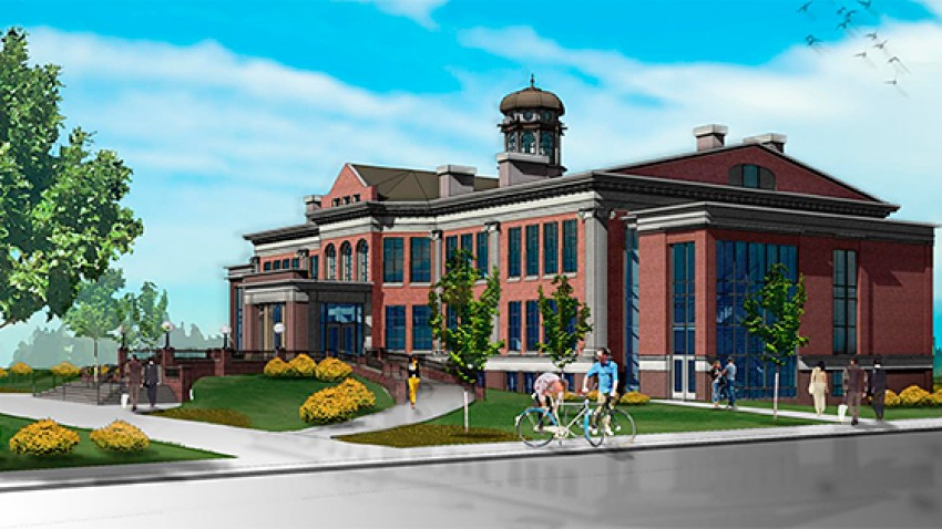 Rendering of the renovated East Hall.