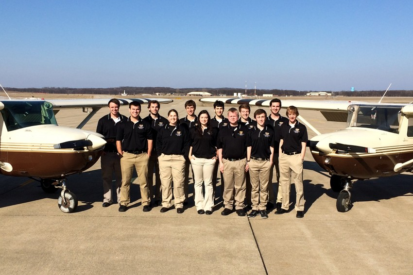 Photo of the Sky Broncos precision flight team.