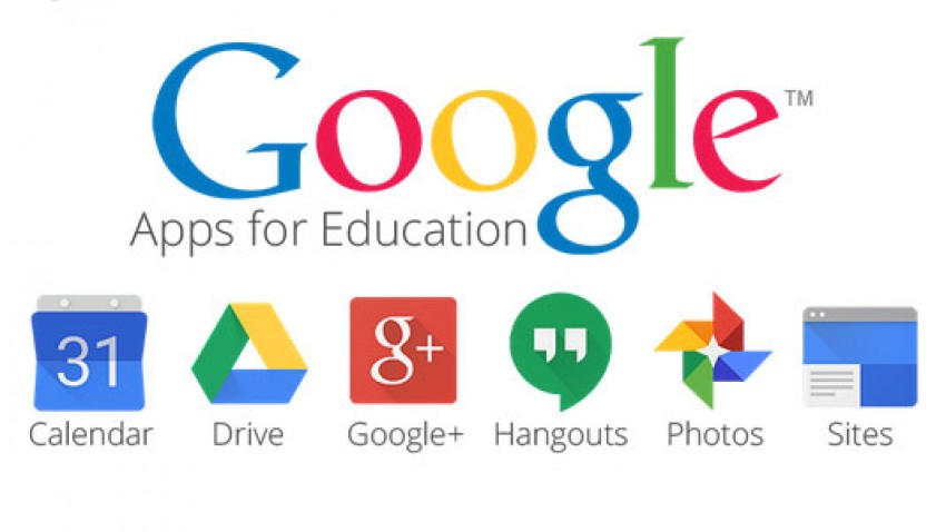 Graphic depicting Google Apps for Education.