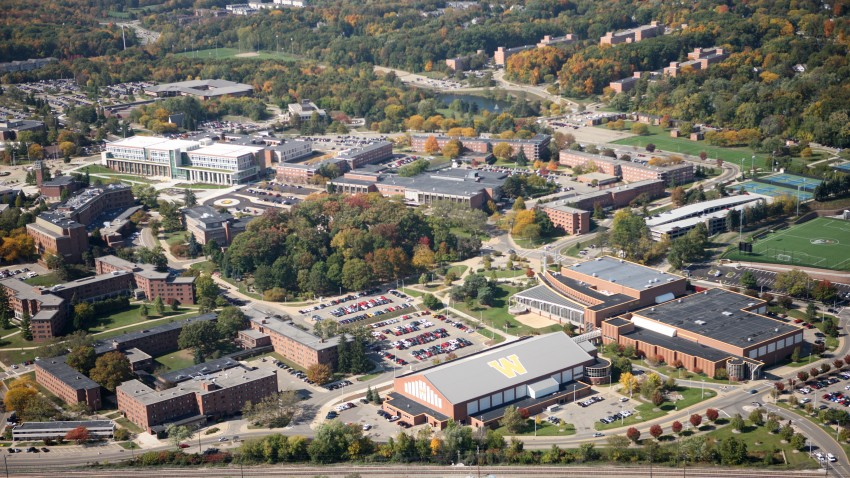 Photo of the WMU main campus from the air.