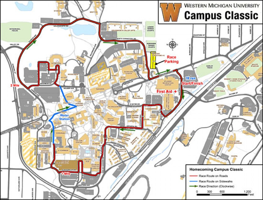Revised Road Closings For Saturdays Campus Classic Wmu News