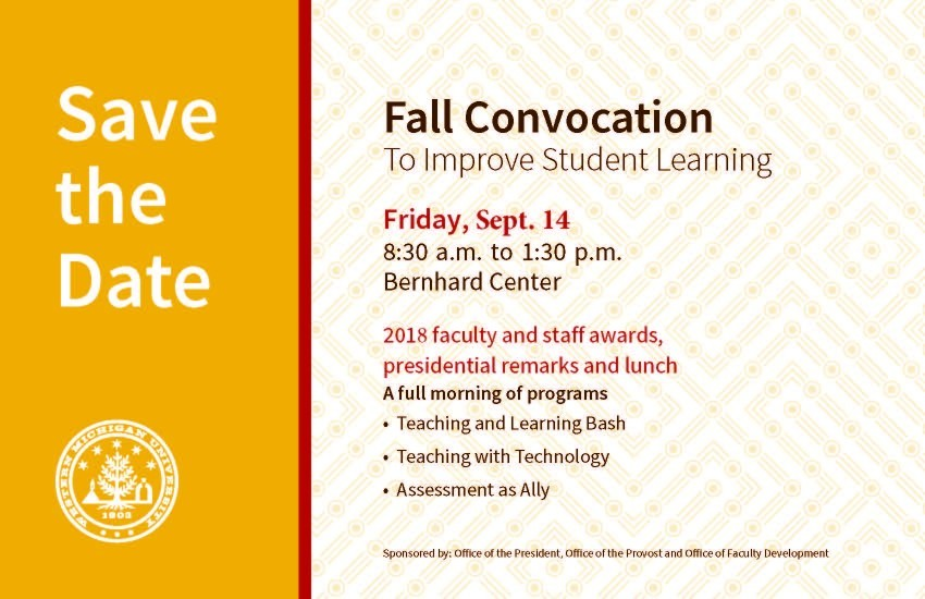 Fall Convocation 2018 Save the Date