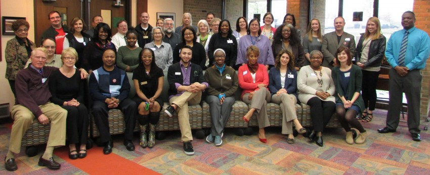 Group photo of MLK event participants