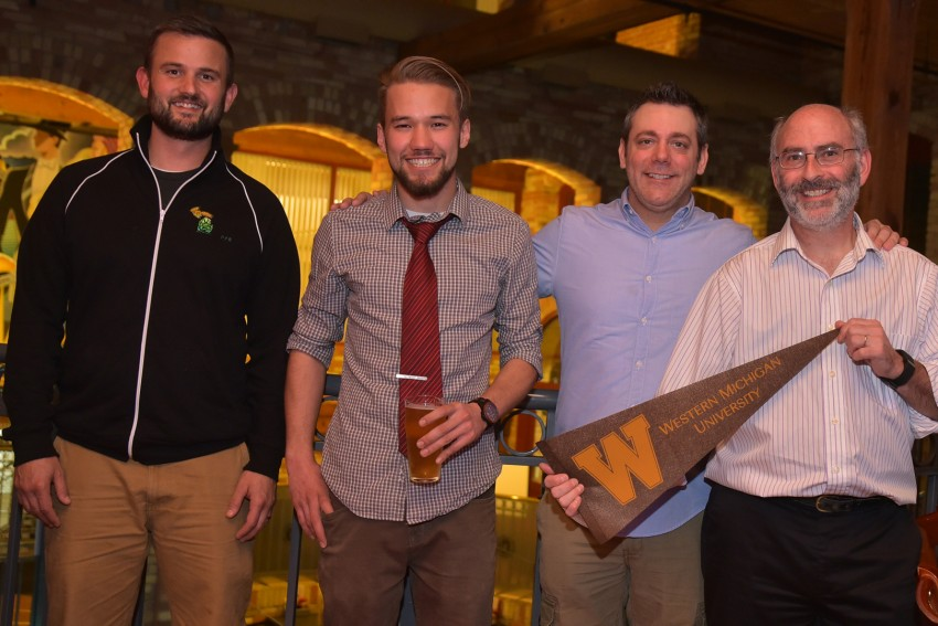 Four men involved with the sustainable brewing program