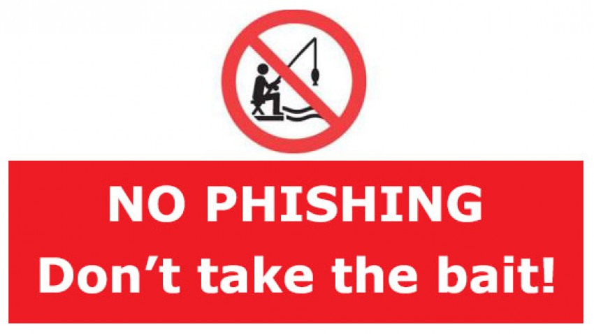 No phishing - don't take the bait