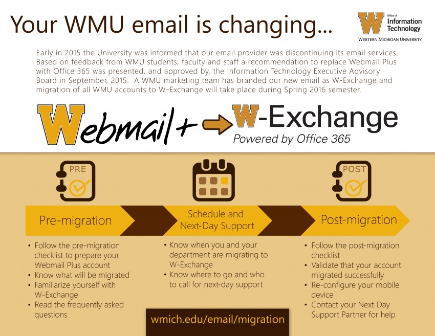 Webmail Plus to W-Exchange, powered by Office 365