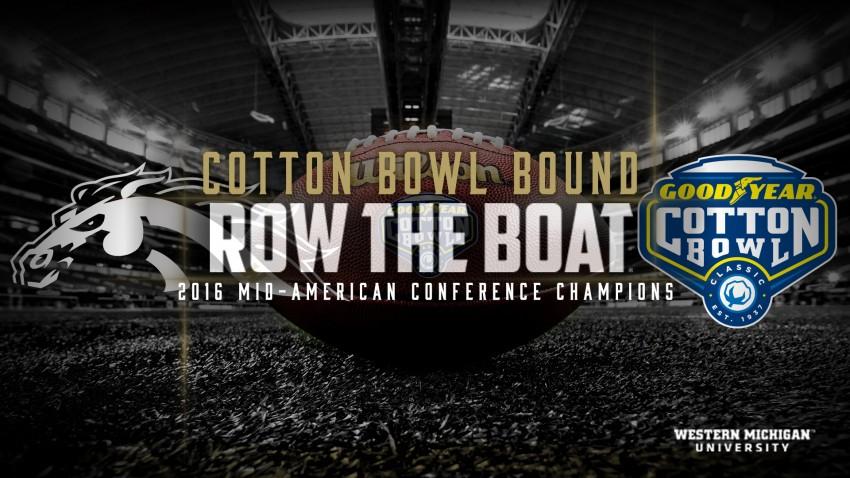 WMU football Broncos, 2016 MAC football champions, are Cotton Bowl bound.