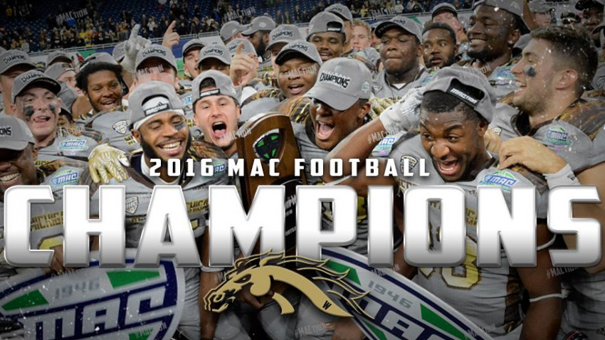 WMU Broncos, 2016 MAC football champions.
