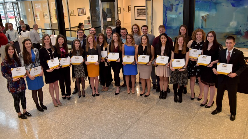 WMU students in Trailblazer Student Recognition program.