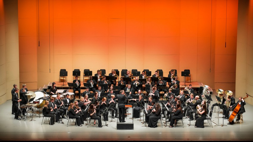 Photo of Western Michigan University's Symphonic Band.
