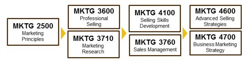 Sales program course sequence