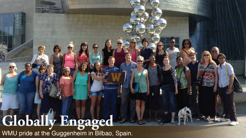 WMU students, faculty and staff in Bilbao, Spain