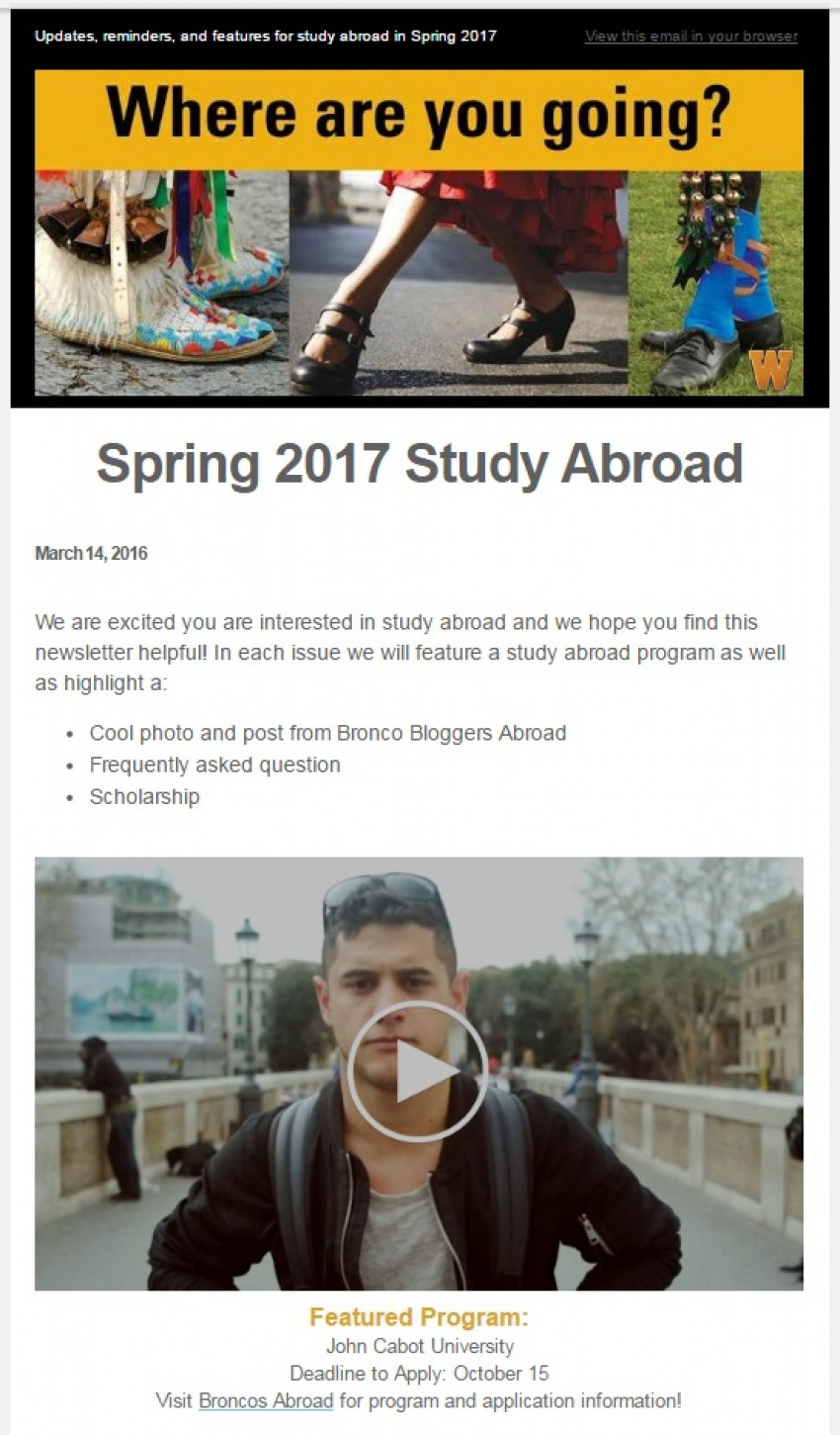 Subscribe to Our Newsletter | GoAbroad.com