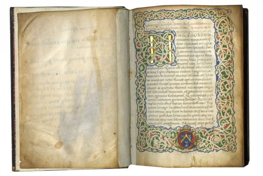 open medieval book