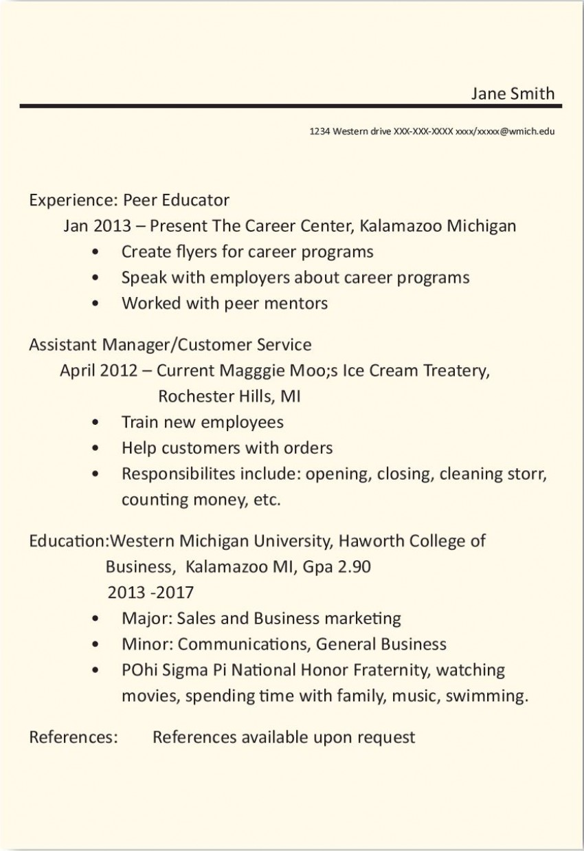 resume before and after