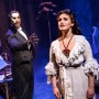 Quentin Oliver Lee wearing a mask and Eva Tavares in The Phantom of the Opera. Photo by Matthew Murphy.