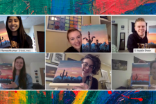 A screenshot from the PSST virtual painting party.
