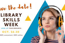 Save the date for Library skills week on October 26 through 30