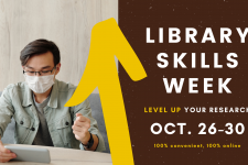 Library Skills Week event on October 26 through 30, 2020