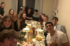"The whole friendgroup gathers to celebrate our ""Friendsgiving"" at my apartment"