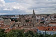 Overlooking the main city area of Burgos