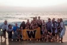 group shot at the Arabian Sea