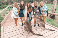 Group of students at the Moonlight Wildlife Sanctuary.