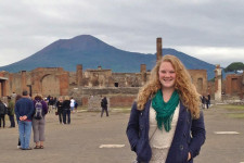 Kelly posing for a picture during her study abroad experience.
