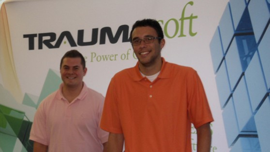 Photo of two interns in Traumasoft office