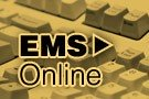 """keyboard with the words """"EMS Online"""" overlaid"""