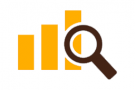 graphic image of graph and magnifying glass