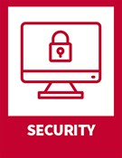 Security – computer icon with lock icon on screen