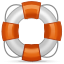 White and orange life preserver