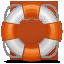 White and orange life preserver