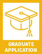 """Yellow graduation hat with text""""Graduate Application"""""""