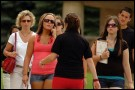 Photo of students taking a campus tour at Westnern Michigan University.