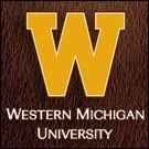 Western Michigan University logo on horsehair background