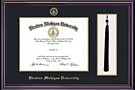 Photo of framed WMU diploma.