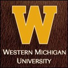 Gold W with Western Michigan University signature on horsehair background