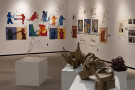 An overview of the annual foundation student exhibition.