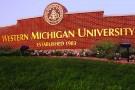 Western Michigan University entrance sign.